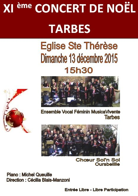 Affiche Ste Therese - 13.12.15