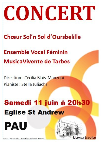 Affiche St Andrew - 11.06.2016