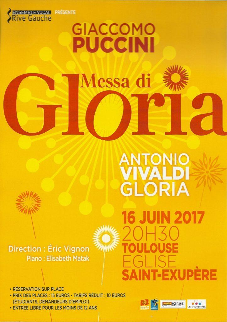 Affiche Gloria St-Exupère 2017