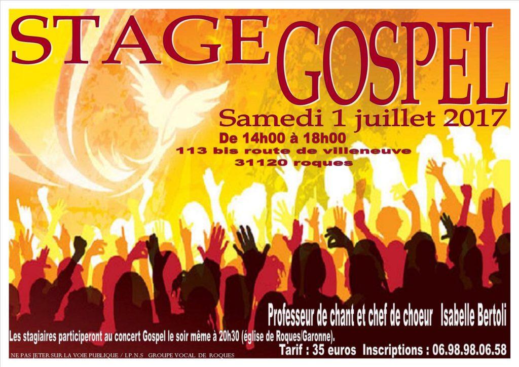 tract stage gospel 2017 roques sur garonne
