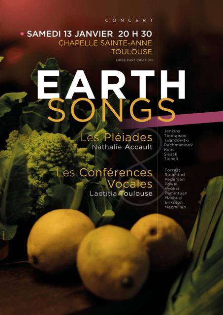 Affiche Concert 13 janvier 2018 - Conférences Vocales - Les Pléiades